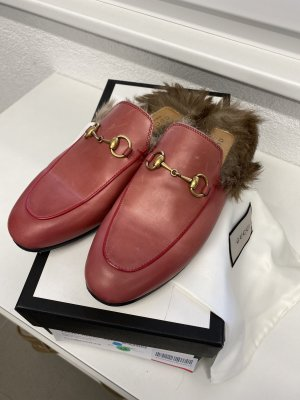 Gucci Princetown Loafer Fell rot Gr. 37