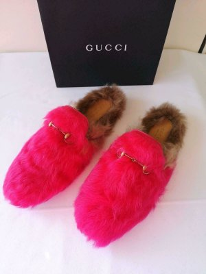 GUCCI PRINCETOWN LOAFER MULES SIZE 40,5 NEW PINK