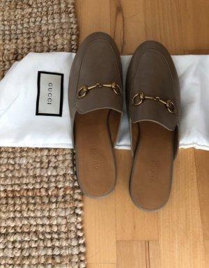 Gucci Babouche gris brun