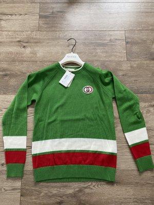 Gucci Wełniany sweter zielony