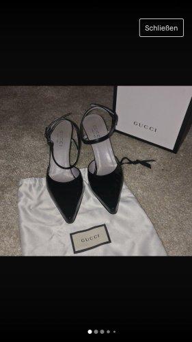 Gucci Strapped pumps black-silver-colored