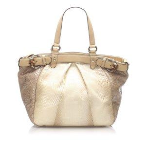 Gucci Python Bamboo Buckle Shoulder Bag