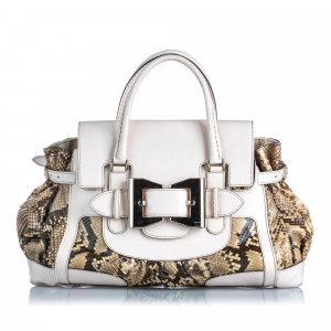 Gucci Python Leather Dialux Queen Handbag
