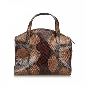 Gucci Python Leather Handbag