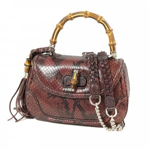 Gucci Satchel bordeaux reptile leather