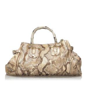 Gucci Python Pop Bamboo Handbag
