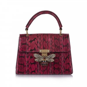 Gucci Queen Margaret Python Satchel