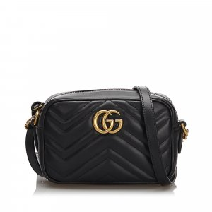 Gucci Quilted Leather Marmont Crossbody Bag