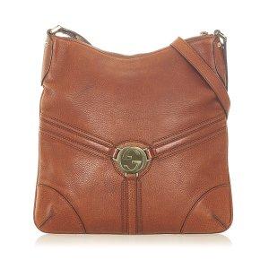 Gucci Crossbody bag light brown leather