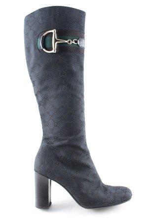 Gucci Reißverschluss-Stiefeletten schwarz Allover-Druck Business-Look