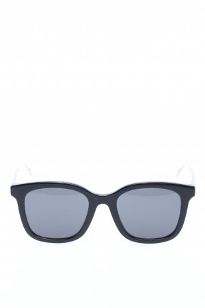 Gucci Retro Brille schwarz-silberfarben Casual-Look
