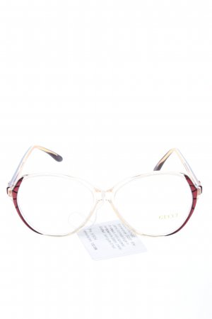 Gucci Gafas Retro rojo-color oro look casual