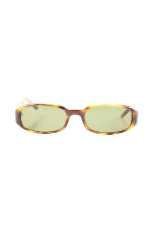 Gucci Retro Brille braun-blassgelb Allover-Druck Casual-Look