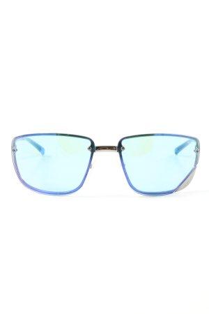 Gucci Retro Glasses silver-colored-blue elegant