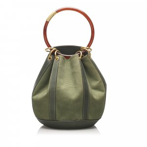 Gucci Ring Canvas Bucket Bag