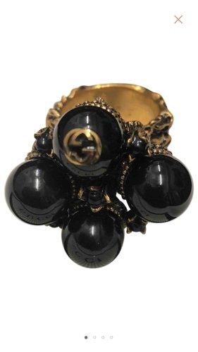 Gucci Ring zwart-zandig bruin Glas
