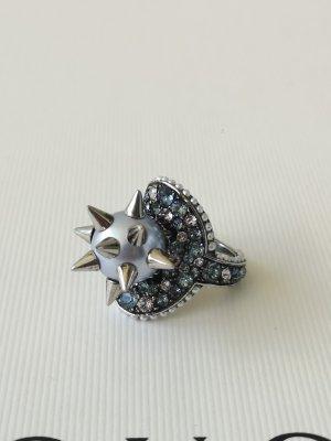 Gucci Anello di fidanzamento nero-argento