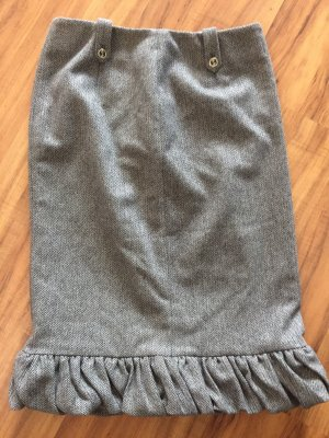 Gucci Spódnica midi czarny-biały Wełna