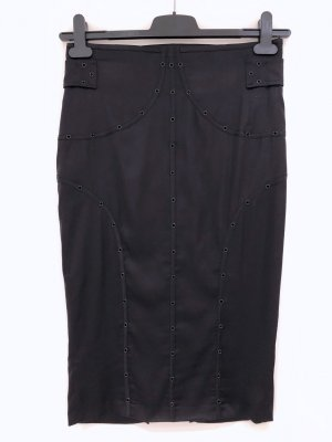 Gucci Falda de tubo negro Seda