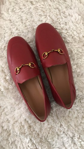 Mocassins donkerrood Leer