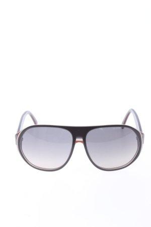 Gucci runde Sonnenbrille schwarz Casual-Look