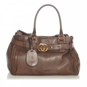Gucci Running Leather Tote Bag