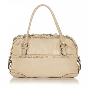 Gucci Handbag beige leather