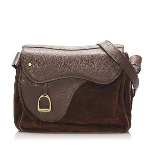 Gucci Saddle Leather Crossbody Bag