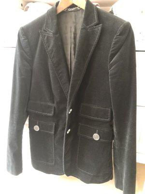 Gucci Klassischer Blazer noir-vert foncé velours