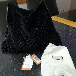 Gucci Samt Tasche schwarz