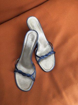 Gucci Sandales à lanière bleu acier