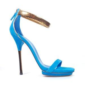 Gucci Escarpins à lanière bleu azur-bleu clair cuir