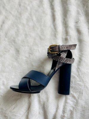 Gucci Sandalo con plateau blu