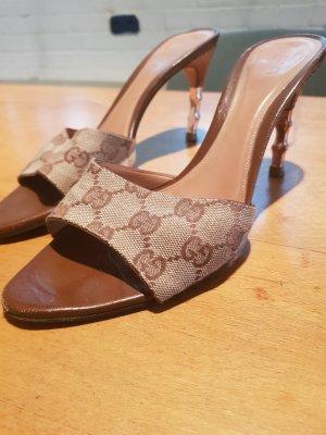 Gucci Sandalo con tacco bronzo