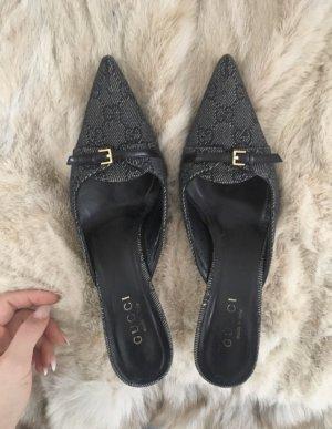 Gucci Hoge hakken sandalen zwart-donkerblauw