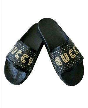Gucci Pool Slider black-gold-colored