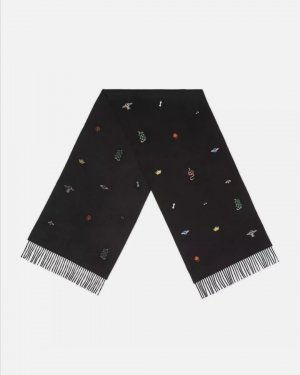 Gucci Silk Scarf black