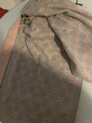 Gucci Bufanda de cachemir gris claro-rosa claro