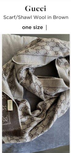 Gucci Écharpe en laine brun