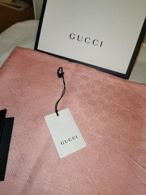 Gucci Sciarpa di seta rosa pallido Seta