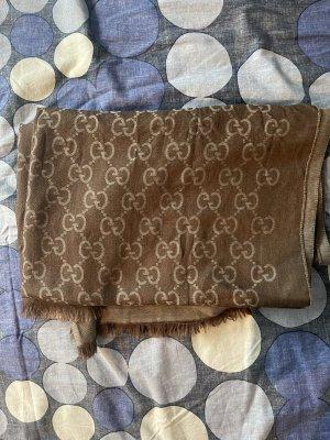 Gucci Bufanda de flecos marrón