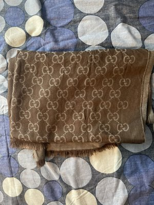 Gucci Écharpe à franges brun