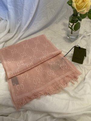 Gucci Sciarpa di seta rosa chiaro