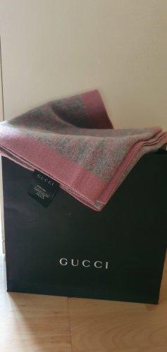 Gucci Bufanda de lana gris-rosa