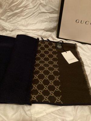 Gucci Wollen sjaal donkerblauw-bruin