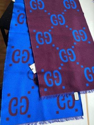 Gucci Bufanda de lana azul oscuro-azul