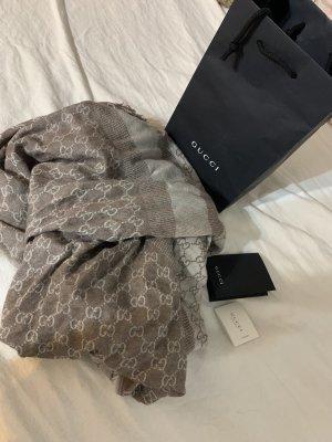 Gucci Foulard en soie marron clair