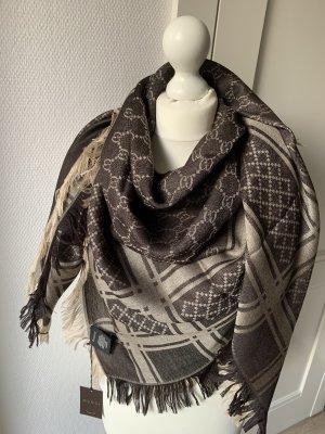Gucci Bufanda de lana marrón grisáceo-beige Lana