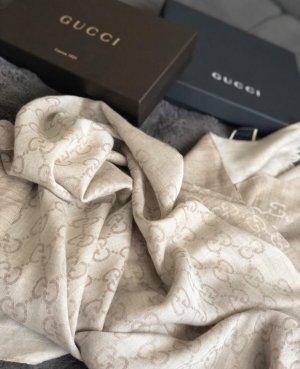 Gucci Sciarpa di seta beige chiaro-crema