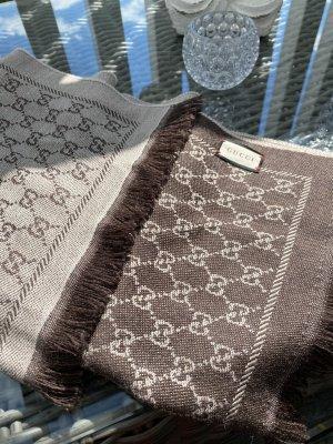 Gucci Bufanda de lana marrón-beige